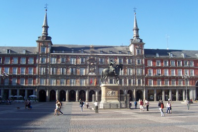 Plaza Mayorin Madrid, Spain