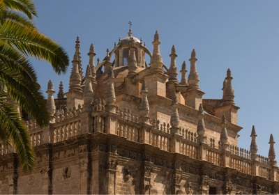 Pinnacles Cathedral in Seville, Spain